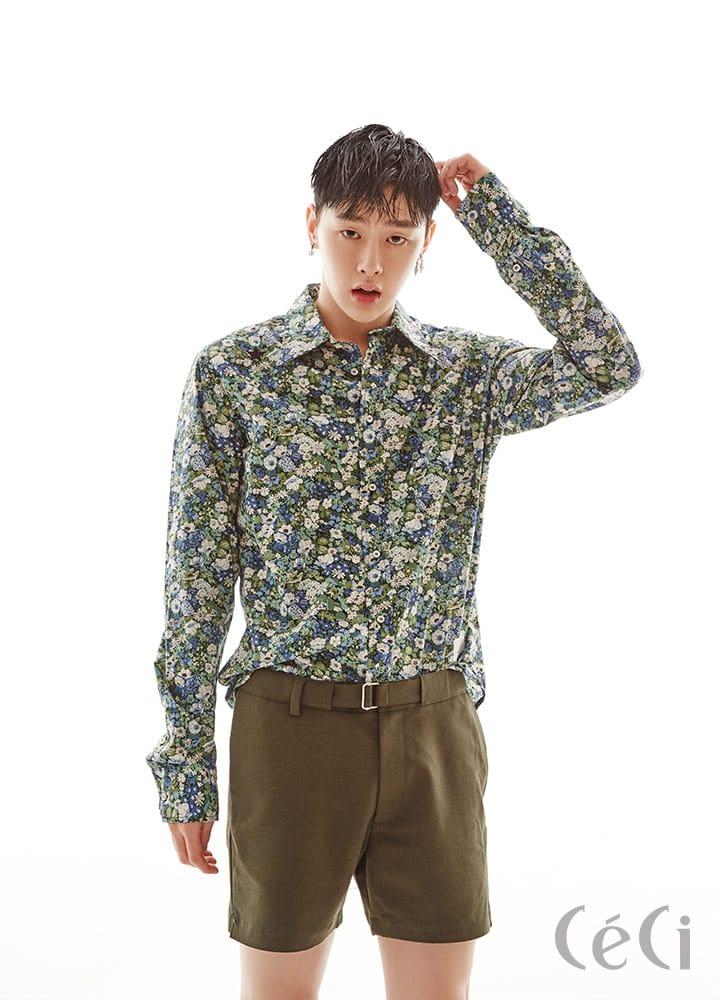 패턴셔츠 39만5천원 디 에디터 by 비이커 The Editor by Beaker 벨티드 쇼츠 H&M